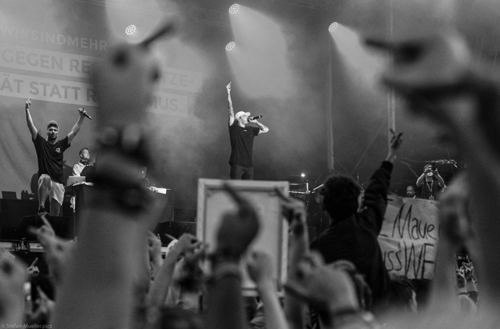 Musik gegen Rechts: Marteria und Casper auf dem #wirsindmehr-Konzert