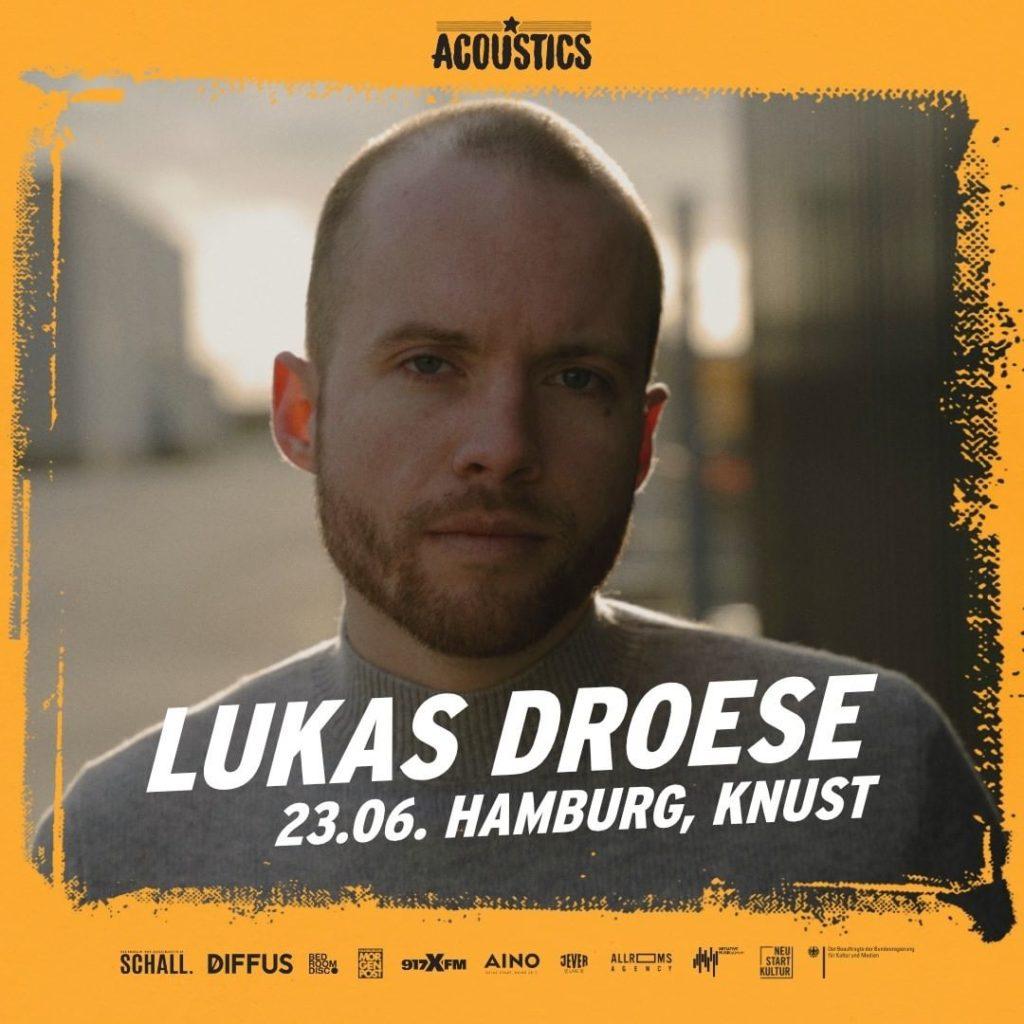 Lukas Droese, Untoldency, Untoldency Magazine, Indie, Musik, Blog, Blogger, Online Indie Musik Magazin, Acoustics Concerts, hamburg knust, lukas droese musik